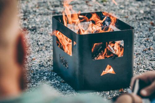 BEER BOX Feuerkorb schwarz