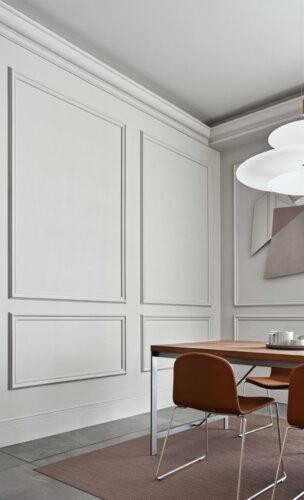 Kombination aus der hohen Sockelleiste SX156 & der eleganten Wandleiste P8020